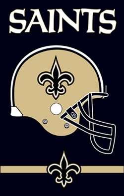 New Orleans Saints Football Flag