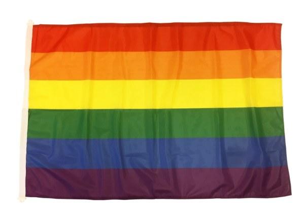 Regnb책gsflagga - Prideflagga i flera storlekar