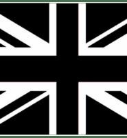 Union Jack – Black / White 3ft x 2ft with eyelets