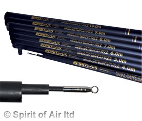 9m High Performance Spirit of Air telescopic flag pole