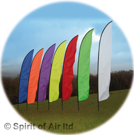 Feather swooper banner white 5m