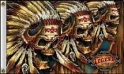 Skulls 3indians flag 5ft x 3ft