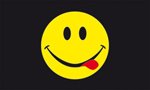 Acid smiley flag 5ft x3ft
