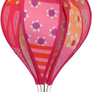 Patchwork PINK hot air balloon style windspinner by Spirit of Air