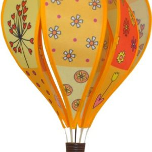 Patchwork YELLOW hot air balloon style windspinner by Spirit of Air