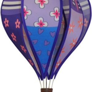 Patchwork PURPLE hot air balloon style windspinner by Spirit of Air
