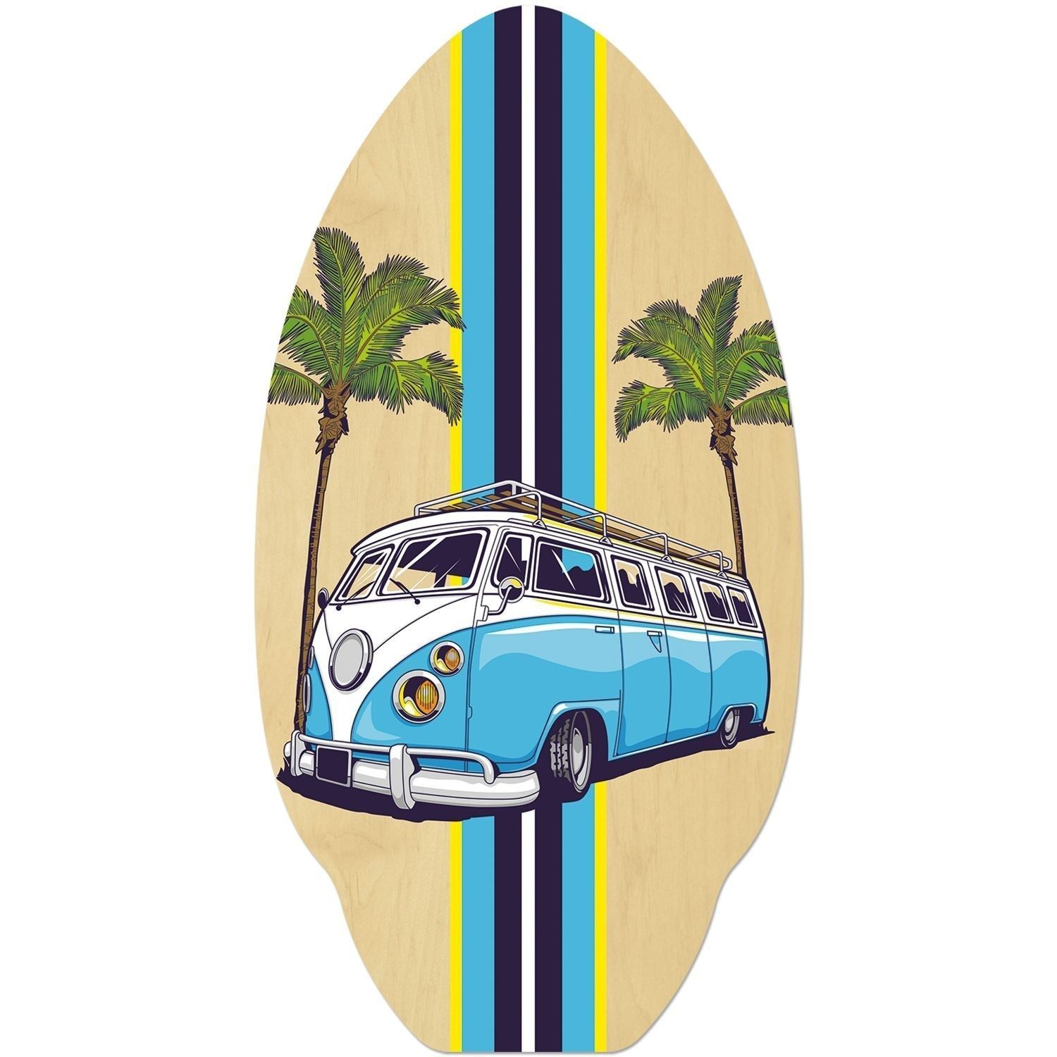 VW camper style in BLUE skimboard or use for VW camper table