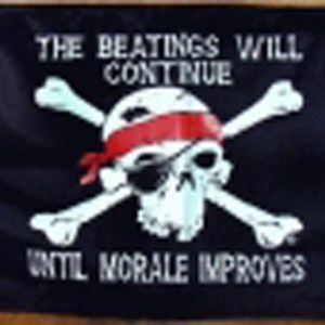 The beatings will continue flag 5ft x 3ft