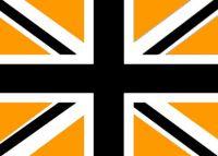 Union Jack flag - Black / Gold / White 5ft x3ft