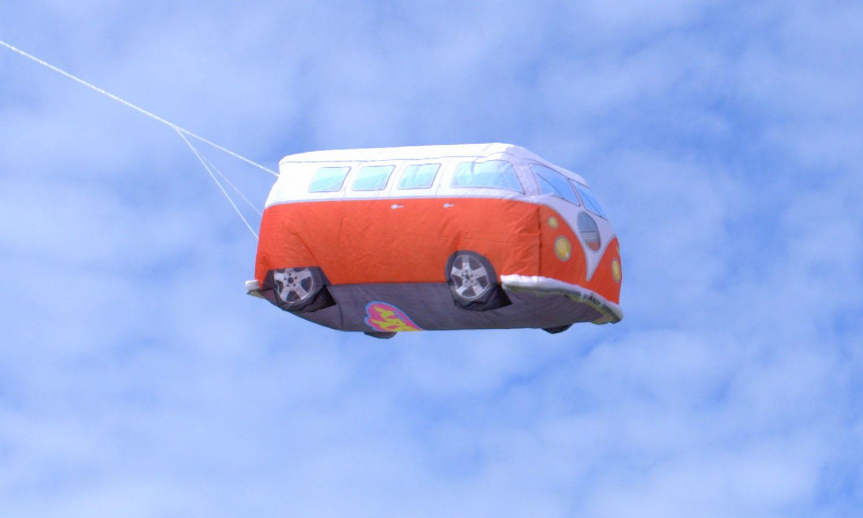Cool camper windsock Split screen VW red / white