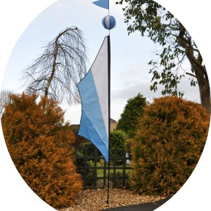 Festival ball banner feather kit in cool blue