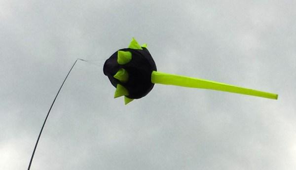 Junior Spike Sock windsock - FLUORO YELLOW / BLACK line laundry by Spirit of Air