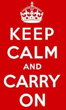 Keep calm and carry on flag red 5ft x 3ft