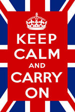 Keep calm and carry on flag union flag style 5ft x 3ft
