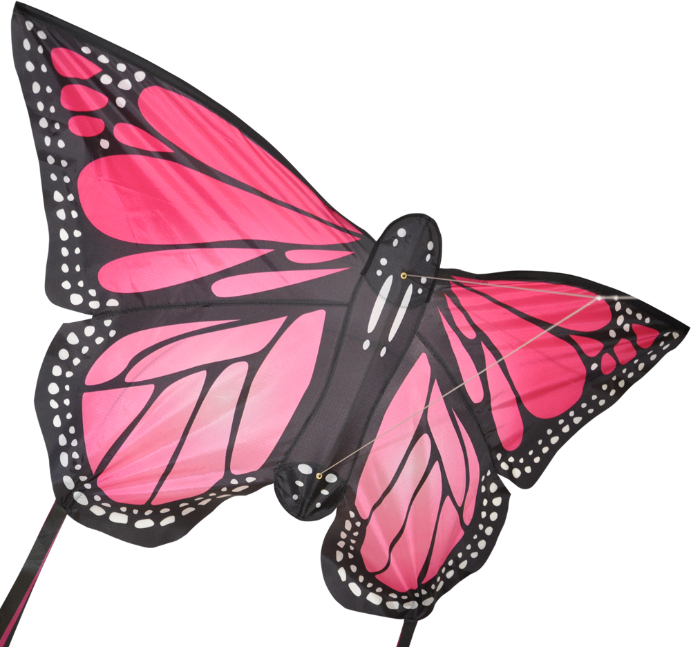 Monarch butterfly kite large in pink by spirit of Air