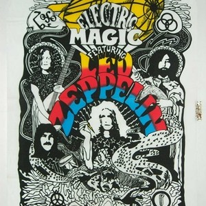 Led Zeppelin Flag 60s/70s Psychadelic Jimmy Paige Robert Plant bnip