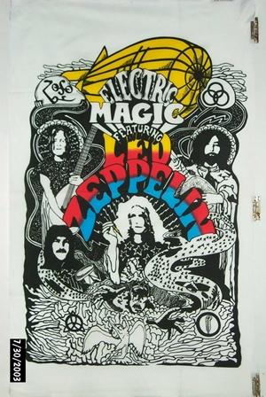 Led Zeppelin Flag 60s/70s Psychadelic Jimmy Paige Robert Plant bnip