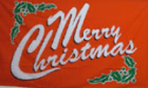 merry christmas flag in red 5ft x 3ft
