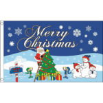 Merry christmas noth pole celebration flag 5x3ft