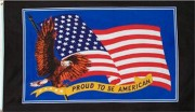 Proud to be American Flag 5ft x3ft USA