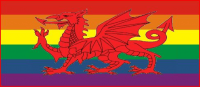 Rainbow wales flag 5ft x 3ft