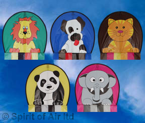Sky buddy childrens kite featuring Rustie the cat