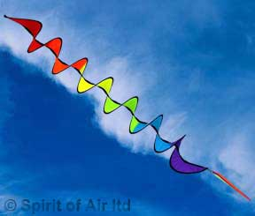 Spiral twister spinner rainbow coloured