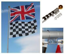 Aluminium 6m flag pole suitable for 2 flags