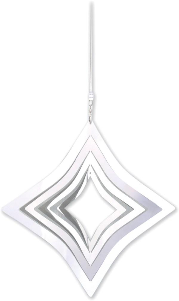 Stainless steel garden windspinner - DIAMOND
