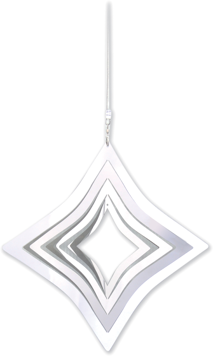 Stainless steel garden windspinner - DIAMOND