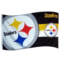 Pittsburgh Steelers NFL flag 5ft x 3ft with eyelets
