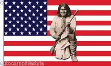 USA geronimo indian american flag 5ft x3ft