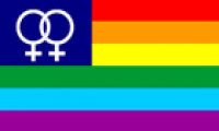 Rainbow Venus flag 5ft x 3ft