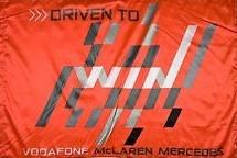 Driven to Win vodafone Mclaren mercedes official flag 5ft x 3ft
