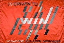 Driven to Win vodafone Mclaren mercedes official flag 5ft x 3ft