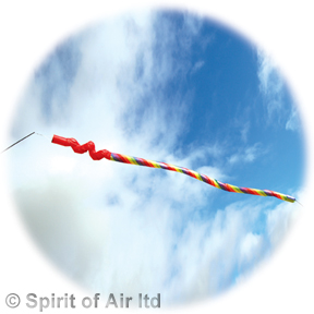 Giant worm twister windsock line laundry by Spirit of Air