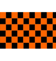 Chequered check flag black/orange 5ft x 3ft