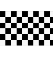 Chequered check flag black/white 3ft x 2ft with eyelets