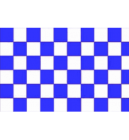Chequered check flag blue/white 5ft x 3ft