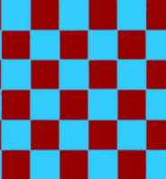 Chequered check flag claret sky blue 5ft x 3ft