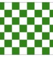 Chequered check flag green white 5ft x 3ft