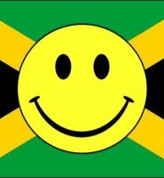 Jamaica smiley flag 5ft x 3ft with eyelets