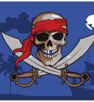 Pirate night sky flag 5ft x 3ft with eyelets