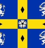 Durham flag 5ft x 3ft old style