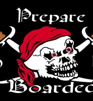 Prepare to be boarded flag 5ft x 3ft