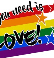 All you need is love flag 5ft x 3ft with two eyelets