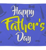 Fathers day flag 5ft x 3ft with eyelets