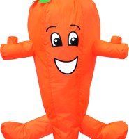 Carrot wacky character windsock for telescopic flag poles or garden ornaments and camping festivals