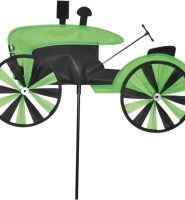 Small tractor windspinner windform in green