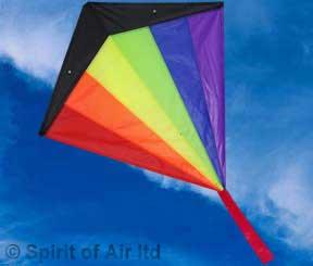 Large diamond stunter stunt kite by Spirit of Air rainbow
